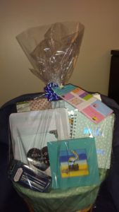 My Stuff Stationery Gift Basket With Stickys