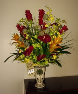Tropical Floral Arrangement Vase